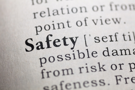 Fake Dictionary, Dictionary definition of the word Safety Stock Photo