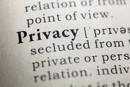 Fake Dictionary, Dictionary definition of the word privacy  photo