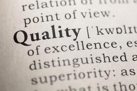 control de calidad: Diccionario Fake, Definici�n del diccionario de la palabra calidad