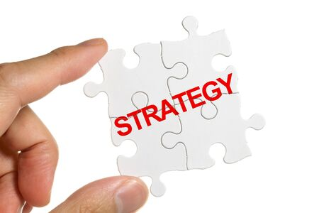 Puzzle and Strategy, business concept  photo