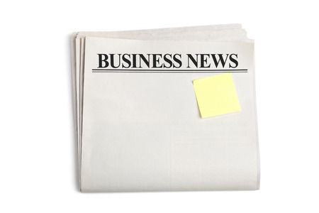 business news: Business News, Blank Newspaper with white background