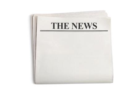 Giornale in bianco con sfondo bianco Archivio Fotografico - 23319620