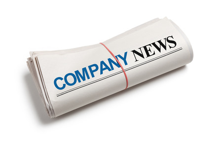 Company News, Newspaper roll with white background