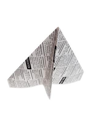 가짜 신문 비행기, 분류 광고, 비즈니스 개념