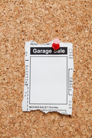 Fake Classified Ad, newspaper, Garage Sale concept Stock Photo - 23319710