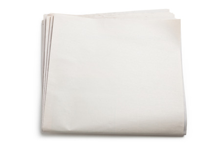 Blank Newspaper with white background