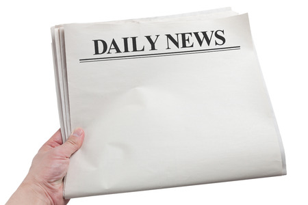 Daily News, Blank Newspaper with white background Banco de Imagens