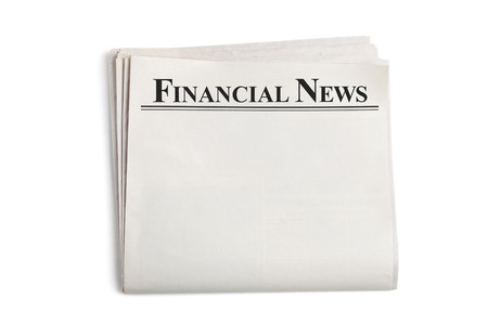 Financial News, Blank Newspaper with white background photo