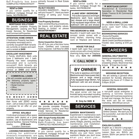 Fake Classified Ad, newspaper, business concept  Stock Photo - 23360004