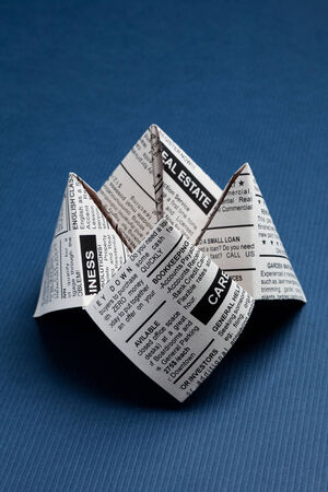 classified ad: Newspaper Fortune Teller, Classified Ad, business concept