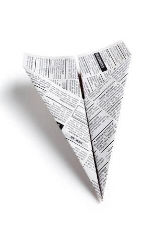 신문 비행기, 분류 광고, 비즈니스 개념 스톡 콘텐츠