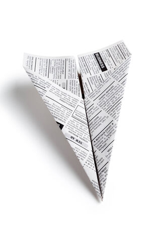 classifieds: Newspaper Airplane, Classified Ad, business concept
