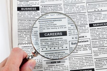 가짜 분류 광고, 신문, 비즈니스 개념 스톡 콘텐츠 - 23405956