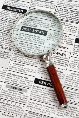 가짜 분류 광고, 신문, 부동산 개념