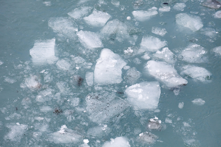 sea ice float on the water Stock Photo