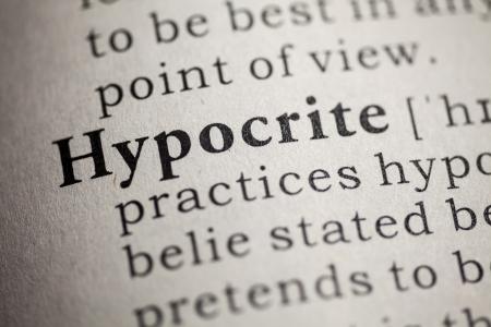 definicion: Diccionario Fake, Definición del diccionario de la palabra hipócrita Foto de archivo