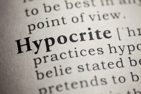 Fake Dictionary, Dictionary definition of the word hypocrite Stock Photo - 24989438