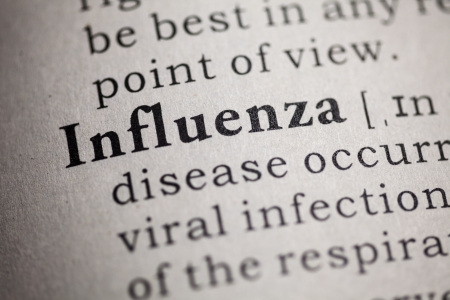 Fake Dictionary, Dictionary definition of the word influenza  版權商用圖片