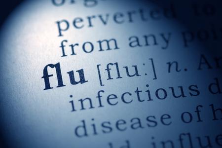 가짜 사전, 독감에 대한 사전 정의