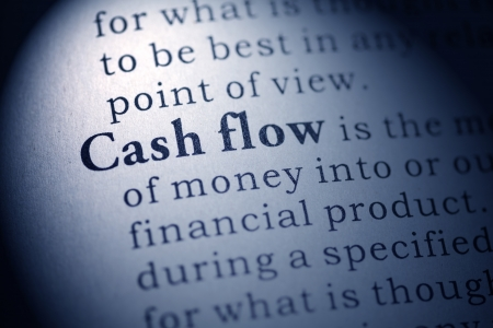 Fake Dictionary, Dictionary definition of the word cash flow Stock Photo - 24989444