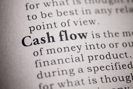 Fake Dictionary, Dictionary definition of the word cash flow Stock Photo - 25164802