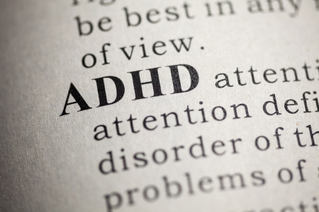 Fake Dictionary, Dictionary definition of the word ADHD  Attention deficit hyperactivity disorder Imagens - 25165071