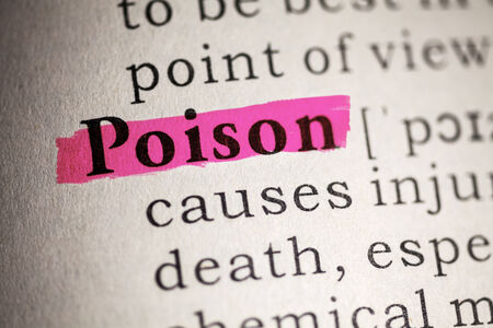 Fake Dictionary, Dictionary definition of the word poison  Stock Photo - 25165118