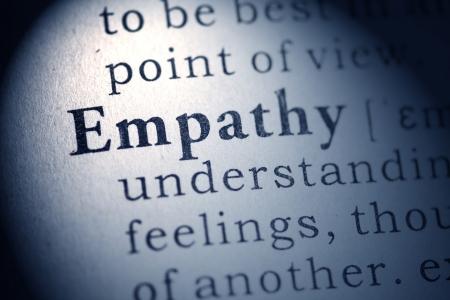 Fake Dictionary, Dictionary definition of empathy Stock Photo - 25165119
