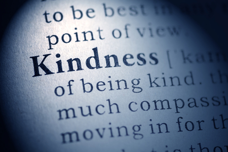Fake Dictionary, Dictionary definition of kindness  Stock Photo