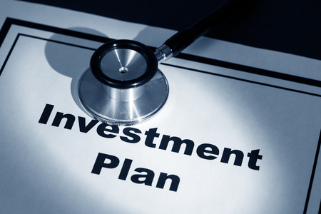 stethoscope and investment plan, concept of contract issue