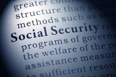 seguridad social: Diccionario Fake, Definición del diccionario de la seguridad social