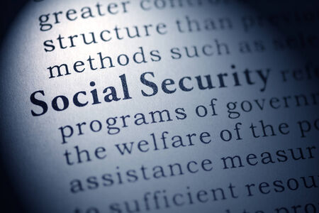 Fake Dictionary, Dictionary definition of social security Stock Photo - 25269858