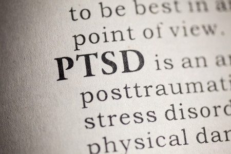 Fake Dictionary, Dictionary definition of the word PTSD  Post Traumatic Stress Disorder  Foto de archivo