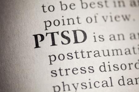 Falso dizionario, la definizione del dizionario della parola PTSD Disturbo Post Traumatico da Stress Archivio Fotografico - 25269877