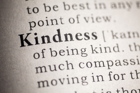 printing out: Fake Dictionary, Dictionary definition of kindness  Stock Photo