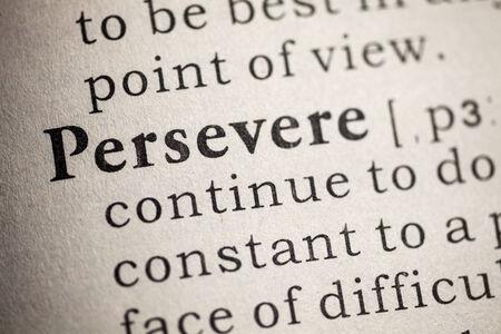 perseverar: Diccionario Fake, Definici�n del diccionario de perseverar