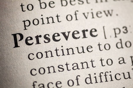 persevere: Fake Dictionary, Dictionary definition of persevere