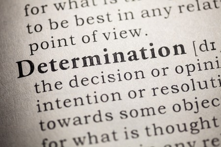 Fake Dictionary, Dictionary definition of determination Stock Photo - 25269911