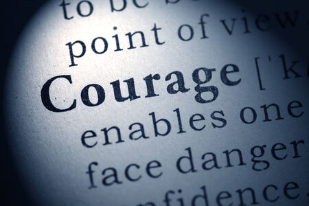Fake Dictionary, Dictionary definition of courage  Stock Photo