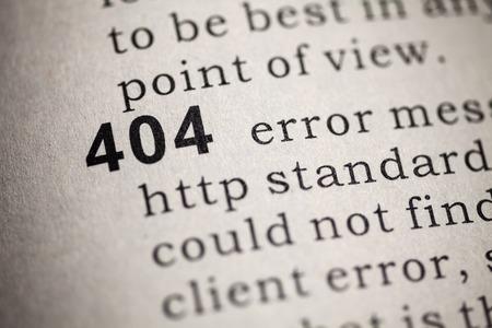 definicion: Diccionario Fake, Definición del diccionario de la palabra 404