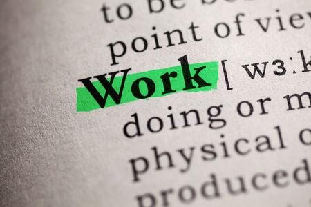 가짜 사전, 단어 작업의 정의