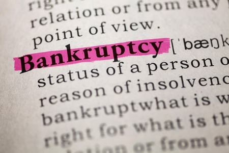 Dictionary definition of the word Bankruptcy
