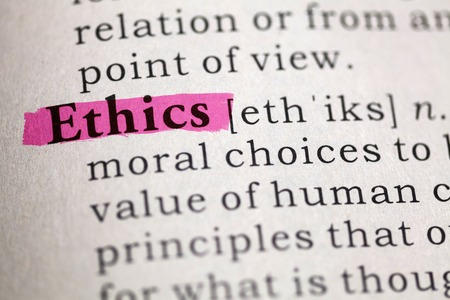 Dictionary definition of the word Ethics  Banque d'images
