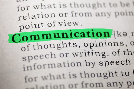 Dictionary definition of the word Communication