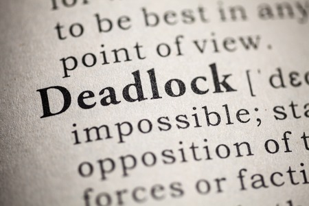 Fake Dictionary, Dictionary definition of the word deadlock