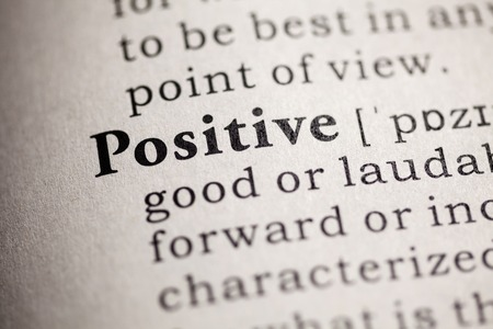 Fake Dictionary, Dictionary definition of the word positive 版權商用圖片 - 26127205