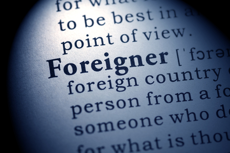 Fake Dictionary, Dictionary definition of the word foreigner