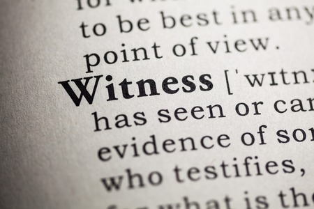 printing out: Fake Dictionary, Dictionary definition of the word witness