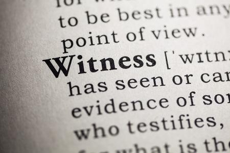 Finto dizionario, la definizione del dizionario della parola testimone Archivio Fotografico - 26127279