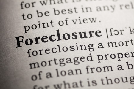Fake Dictionary, Dictionary definition of the word foreclosure  Stock fotó